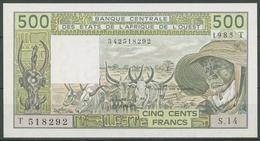 Westafrikanische Staaten 500 Fr. 1985, Rinder, KM 806T H, Kassenfrisch (K217) - Westafrikanischer Staaten