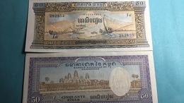 Billet Cambodge 50 Riel - Cambodge