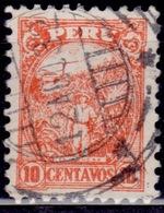 Peru, 1931-32, Sugar Cane Motive, 10c,sc#295, Used - Peru