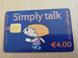 IRELAND /IERLANDE   CHIPCARD   € 4,00 SIMPLY TALK       ** 1107** - Irlande
