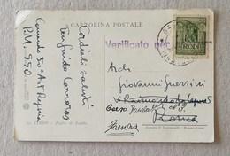 Cartolina Postale Egeo, Rodi Da P.M. 550 Per Faenza - Aegean (Rodi)