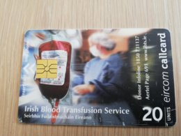 IRELAND /IERLANDE   CHIPCARD   20 UNITS   BLOODTRANSFUSION     ** 1109** - Irlande
