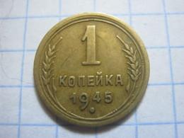 Russia , 1 Kopek 1945 - Russia