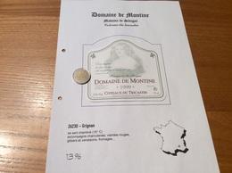 Étiquette De Vin 1999 «COTEAUX Du TRICASTIN - DOMAINE DE MONTINE -Marquise De Sévigné -LA GRANDE TUILIERE -GRIGNAN (26)» - Côtes Du Rhône