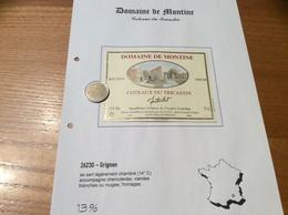 Étiquette De Vin 2000 «COTEAUX Du TRICASTIN - DOMAINE DE MONTINE - SÉLECTION TERROIR -LA GRANDE TUILIERE -GRIGNAN (26)» - Côtes Du Rhône