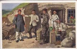 AK Sepp Macht Sich Einen Spaß - Deutscher Soldat In Französischer Uniform - Humor - 1. WK  (48692) - Guerre 1914-18