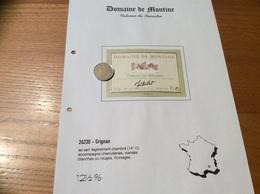 Étiquette De Vin 10L «COTEAUX Du TRICASTIN -DOMAINE DE MONTINE -LA GRANDE TUILIERE -GRIGNAN (26)» - Côtes Du Rhône