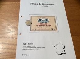 Étiquette De Vin 2000 «COTEAUX Du TRICASTIN -DOMAINE DE GRANGENEUVE - DOMAINES BOUR - ROUSSAS (26)» - Côtes Du Rhône