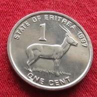 Eritrea 1 Cent 1997 Antelope  Eritreia UNCºº - Erythrée