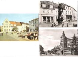 Deutschland - 3 AK - Perleberg - Markt - Roland - Lenzener Strasse - Alte Ansichten - Perleberg
