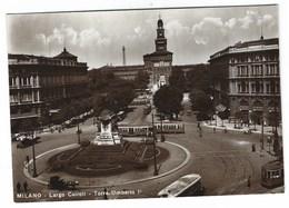 5147 - MILANO LARGO CAIROLI TORRE UMBERTO I° ANIMATA AUTOMOBILI TRAM FILOBUS 1940 CIRCA CIT CENTRO ITALIANO TURISMO - Milano