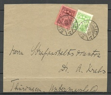 LETTLAND Latvia 1932 O Riga Briefstück/Briefvorderseite Cover Front With 2 Stamps - Lettland