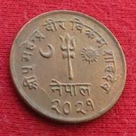 Nepal 5 Paisa  1964 XFºº - Népal