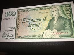 Iceland BANKNOTE 100 KRONUR, 1986 YEAR - Island