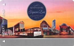 Harrah's Casinos RARE Seven Stars 2011 Signature Event Atlantic City NJ BLANK Slot Card  ...[RSC]... - Casino Cards