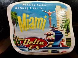 Etiquette Vintage _ DELTA C&S _ MIAMI _ USA - Autres