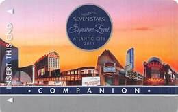 Harrah's Casinos RARE Seven Stars Companion 2011 Sig. Event Atlantic City NJ BLANK Slot Card  ...[RSC]... - Casino Cards