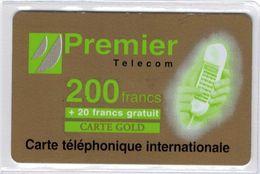 Top Collection - PREMIER TELECOM - RARE Carte Gold 200 F + 20 F - Voir Scans - France