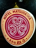 Etiquette HOTEL Vintage _ Hotel MATSUDAIRA _ TOKYO _ JAPON - Hotel Labels