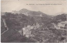 07 : PRIVAS : Le Village De Charalon Et Le Mont-toulon - Privas