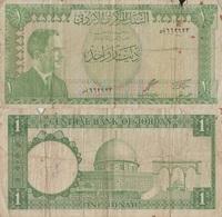 Jordan / 1 Dinar / 1959 / P-14(a) / FI - Giordania