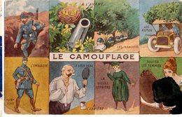 CPA  - Le Camouflage  -   écrite - Humour