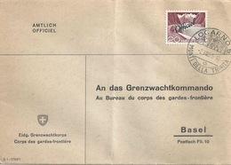 "Officiel Brief  ""Eidg.Grenzwachtkorps""  Locarno Monti Della Trinita - Basel           1955 - Switzerland"