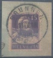 Tell 128C, 15 Rp.schwarzviolett  BRUNNEN STATION         1918 - Switzerland