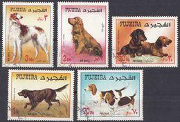 FUJEIRA - 1970 - Lotto Di 5 Valori Usati: Michel 602/606, Raffiguranti Cani Di Razza. - Fujeira