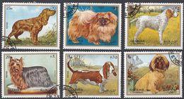 SHARJAH - 1972 -Serie Completa Formata Da 6 Francobolli Usati: Michel 1270/1275, Raffiguranti Cani. - Sharjah