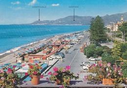 (A278) - BORDIGHERA (Imperia) - La Spiaggia Di Levante, Sullo Sfondo La Costa Azzurra - Imperia
