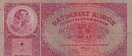 Ref. 1458-1880 - BIN CZECHOSLOVAKIA . 1929. CZECHOSLOVAKIA 50 KORUN 1929 - Tchécoslovaquie