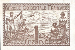 Ref. 954-1376 - BIN FRENCH WEST AFRICA . 1944. 1 FRANC FRENCH WEST AFRICA 1944 - West African States
