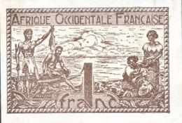Ref. 954-1376 - BIN FRENCH WEST AFRICA . 1944. 1 FRANC FRENCH WEST AFRICA 1944 - Westafrikanischer Staaten