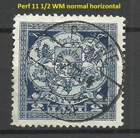 LETTLAND Latvia 1930 Michel 176 Perforated 11 1/2 WM Normal Horizontal O RUJENE - Lettland