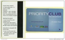 IDO21001 Indonesia Priority Club Rewards Crowne Plaza Jakarta Hotel - Keycard - Cartas De Hotels