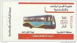 EGD38711 Egypt Bus Ticket / Public Transport Authority / Alexandria Passenger Transport Association - Wereld