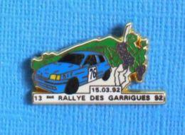 1 PIN'S //  ** 13 ème RALLYE DES GARRIGUES '92 ** . (G.J.P.C.R.T. Arthus Bertrand Paris) - Arthus Bertrand