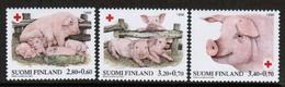 1998 Finland Red Cross Animals, Pigs Complete Set MNH. - Ungebraucht