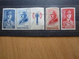 VEND BEAUX TIMBRES DE FRANCE N° 568 - 571 , XX !!! (c) - 1941-42 Pétain