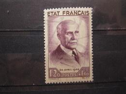 VEND BEAU TIMBRE DE FRANCE N° 576 , X !!! (b) - 1941-42 Pétain