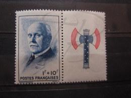 VEND BEAU TIMBRE DE FRANCE N° 569 + VIGNETTE , XX !!! - 1941-42 Pétain