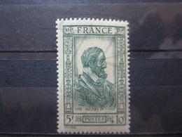 VEND BEAU TIMBRE DE FRANCE N° 591 , TRAIT VERT EN HAUT , XX !!! - Varietà: 1941-44 Nuovi