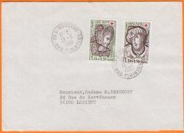 CROIX ROUGE  Y.T. Num 2070 Et 2071   Sur Enveloppe  De 29 GOUEZEC  Sud-finistere - Marcophilie (Lettres)