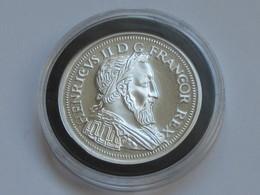 HENRI II - TESTON AU CROISSANT -  Magnifique Reproduction En Argent   **** EN ACHAT IMMEDIAT **** - 987-1789 Monnaies Royales