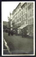 NICE Marché Aux Fleurs Rue St François De Paule - Photo Originale Années 20 - Format 8 X14 - Marchés, Fêtes