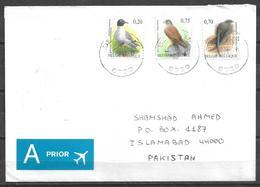 USED AIR MAIL COVER BELGIUM TO PAKISTAN BIRD - Autres