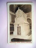 PHOTO CDV 19 EME CHARTREUSE D' AURAY CHAPELLE SEPULCRALE Cabinet VAGNEUR A PARIS - Ancianas (antes De 1900)