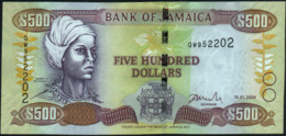 JAMAICA - 500 Dollars 15.01.2008 UNC P.85 F - Jamaica