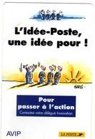 Petit Calenlendrier La Poste 1993 Plastifie Idee Poste - Calendars
